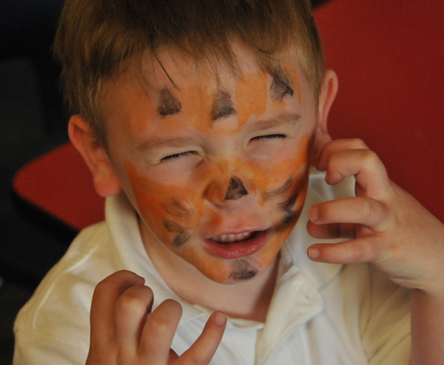 Boy, Child, Face Painting, Tiger, make believe, Dress up
