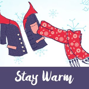 Winter weather, clothing, jacket, scarf, stay warm
